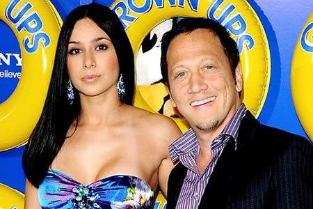 Rob Schneider and wife