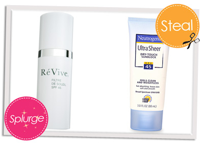 Splurge vs Steal sunscreen