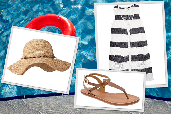Clothes and accessories to wear at a pool party