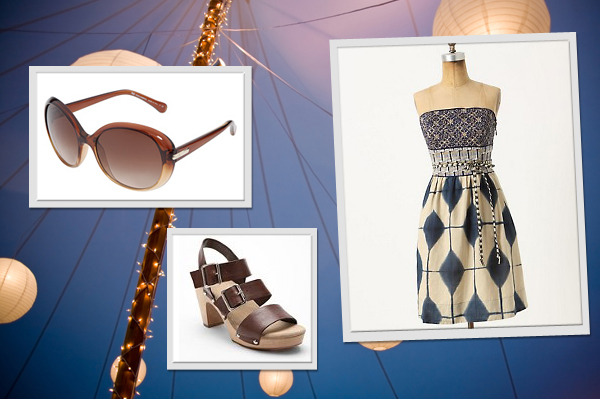 Clothes and fashion accessories to wear to a summer wedding
