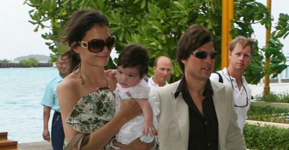 Katie Holmes, Suri Cruise, and Tom Cruise