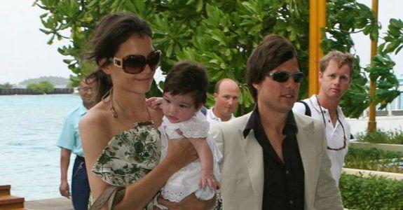 Katie Holmes, Suri Cruise, and Tom Cruise