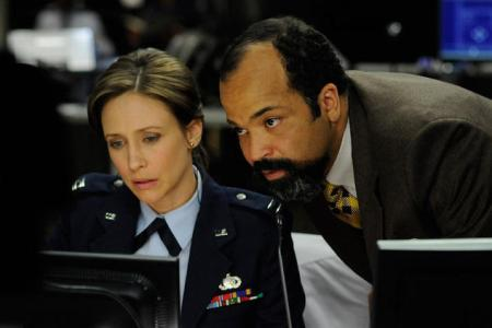Vera Farmiga and Jeffrey Wright in Source Code