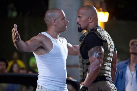Vin Diesel and The Rock go at it in Fast Five