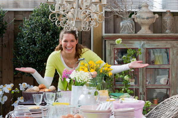 Woman planning mother's day brunch