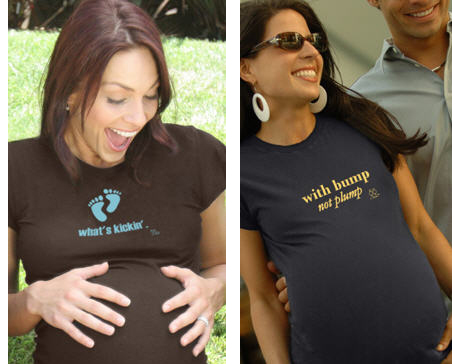 women in cute maternity t-shirts