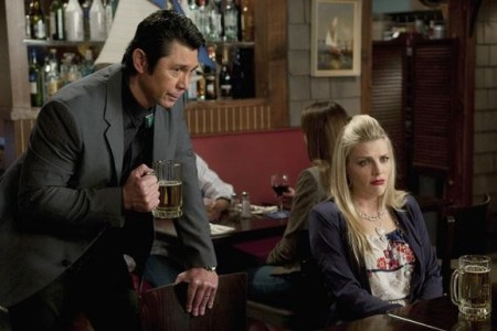 Lou Diamond Phillips, Barry Bostwick and Robert Clendenin get in on the Penny Can action on Cougar Town