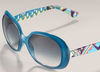 Emilio Pucci summer sunglasses in bold cold colors and fun patterns