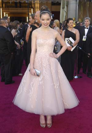 Hailee Steinfeld Oscars Marchesa dress