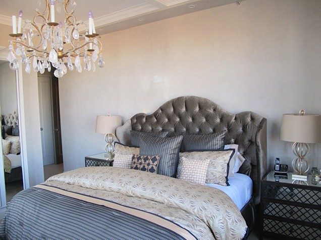 Dramatic fabrics, eclectic touches