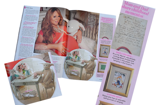 Mementos for Mariah Carey's twins