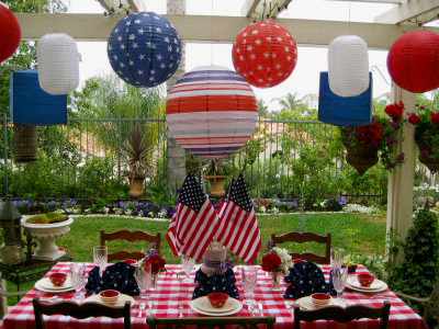 Patriotic decor show your red white and blue for 4th of july decorating ideas for outside