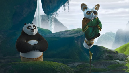 Jack Black and Dustin Hoffman in Kung Fu Panda 2