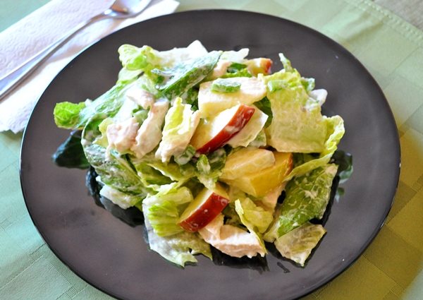 Apples give chicken salad a sweet kick