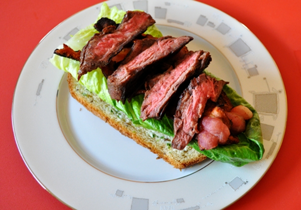 What's better than a BLT? One with steak