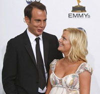 Celebrity couple Amy Poehler and Will Arnett