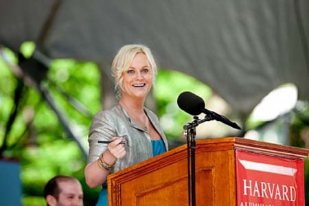 Amy Poehler speaks at Harvard