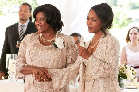 Angela Bassett attends a wedding in Jumping the Broom