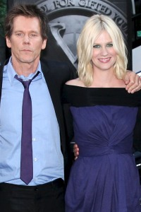Kevin Bacon and January Jones