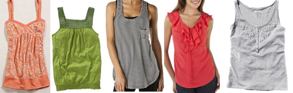 summer basics, summer fashion, tank tops, shirts,