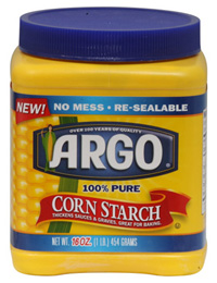 Corn starch is a good substitute for anti-oil face powder