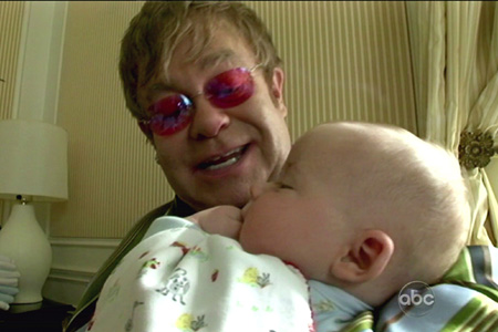 Elton John and son Zachary