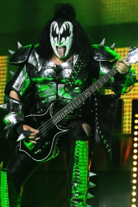 Gene Simmons performs with KISS