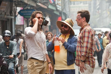 Bradley Cooper, Zach Galifianakis and Ed Helms in The Hangover: Part II