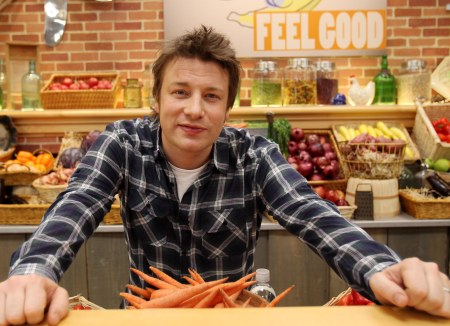 Jamie Oliver gets grilled by Poppy, 9, and Daisy, 8