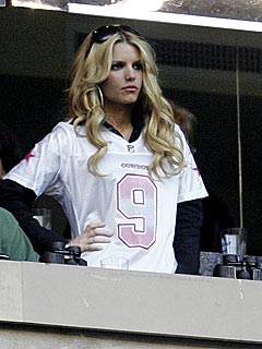 Jessica Simpson: Tony Romo jersey