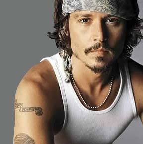 Johnny Depp: Winona Ryder tattoo