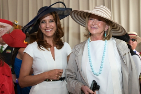 Kate Walsh and Martha Stewart at the Kentucky Derby