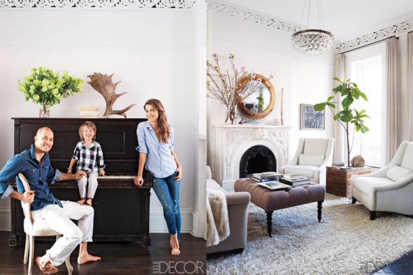 celebrity d cor get cozy inside keri russell s brooklyn brownstone. Black Bedroom Furniture Sets. Home Design Ideas