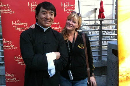 Kung Fu Panda 2 star Jackie Chan and our reporter, Jenna Busch