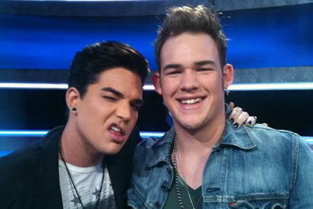 Adam Lambert and James Durbin