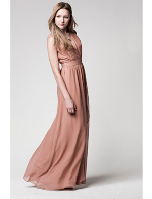Lauren Conrad Paper Crown Clementine Gown in Pink