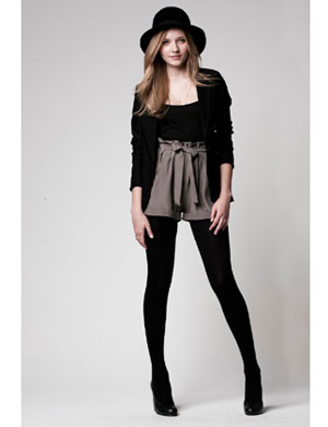 Lauren Conrad Paper Crown 107 Ryder Blazer in Eclipse Blue / 113 Piper Top in Grey / 119 Serena Legging in Black
