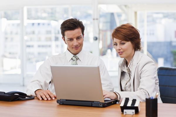 man-and-woman-at-work