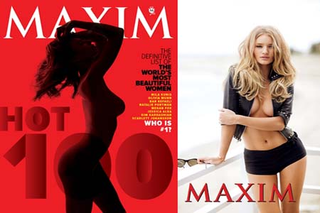 Rosie Huntington- Whiteley tops Maxim
