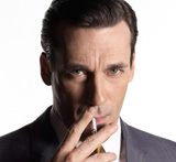 Jon Hamm as heartthrob Don Draper in Mad Men