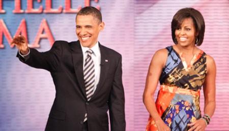The Obamas visit Oprah