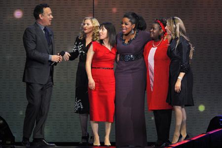 Celebrities react to Oprah's final show
