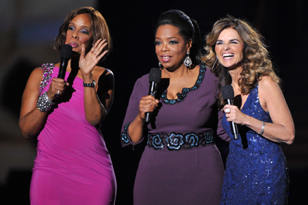 Gayle King Oprah Winfrey Maria Shriver