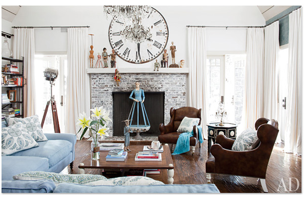 Ozzy & Sharon Osbourne Living Room