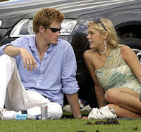 Royal celebrity couple Prince Harry and Chelsea Davy