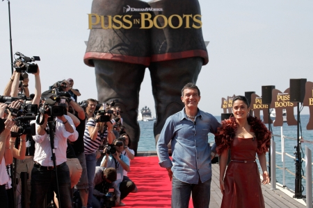 Antonio Banderas and Salma Hayek in Cannes