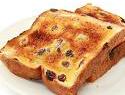 Gluten-Free Chutney Ham Sandwich on Toasted Raisin Bread