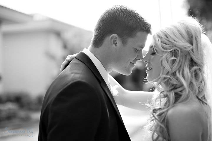 Husband and wife kissing, in love