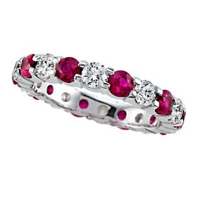 Ruby engagement band