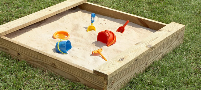 Backyard Sandbox : Small backyard fun, toddler style